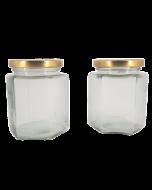 Borcan 380 ml Hexagonal, cod BST351
