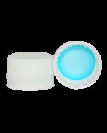 Capac plastic premium cu garnitura D28x18 alb, cod DC03 alb