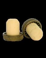 Dop tip cognac din pluta cu cap plastic auriu, cod DC35 auriu