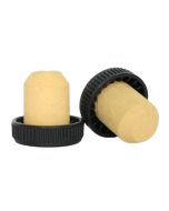 Dop tip cognac din pluta cu cap plastic negru, cod DC35 negru