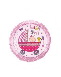 """Balon folie """"Baby girl"""", cod 50294"""