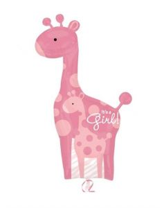 "Balon folie girafa ""It's a girl"", cod 25181"