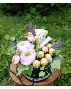 Aranjament absolvire flori artificiale, cod AB02