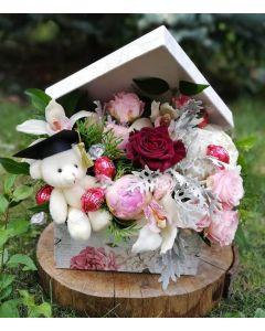 Aranjament absolvire flori naturale, cod AB04