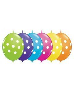 Balon latex cu buline albe 30 cm, cod 1BAL90567