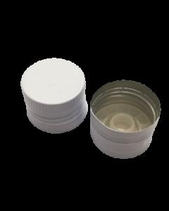 Capac aluminiu prefiletat D31.5*24 mm alb cu picurator, cod DC20 alb