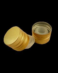 Capac aluminiu prefiletat D31.5*24 mm auriu cu picurator, cod DC20 auriu