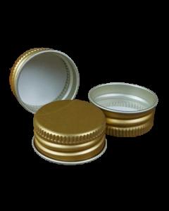 Capac aluminiu prefiletat D26*12 mm auriu, cod DC21 auriu