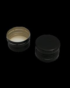 Capac aluminiu prefiletat D24*14 mm negru, cod DC12 negru