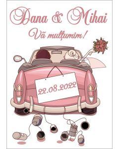 Eticheta autoadeziva/cartonata pentru sticle si borcane, cod E024