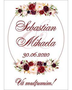 Eticheta autoadeziva/cartonata pentru sticle si borcane, cod E025