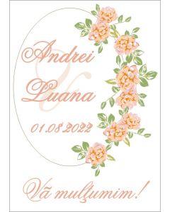 Eticheta autoadeziva/cartonata pentru sticle si borcane, cod E043