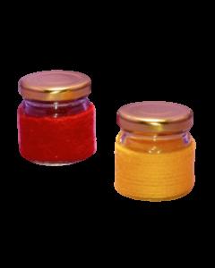 Borcan 40 ml in sfoara colorata, cod HM002