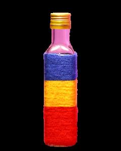 Sticla 250 ml Cognac in sfoara colorata, cod HM016