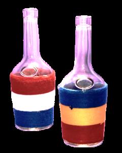 Sticla 500 ml Brandy in sfoara colorata, cod HM020