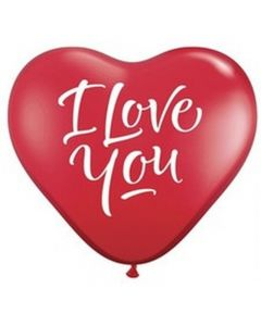 "Balon latex Inima ""I love you"" 25 cm, cod 1BAL.ACRI.LOV"
