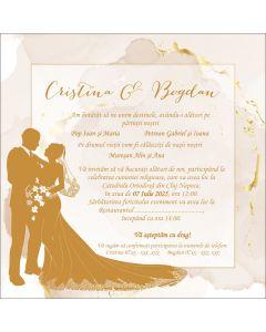 Invitatie nunta personalizata avion, cod IFE01