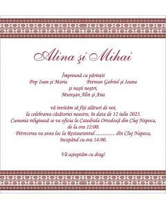 Invitatie nunta personalizata traditionala, cod IFE02