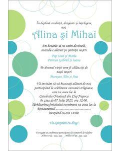 Invitatie nunta personalizata buline, cod IFE04