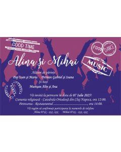 Invitatie nunta personalizata petrecere, cod IFE08