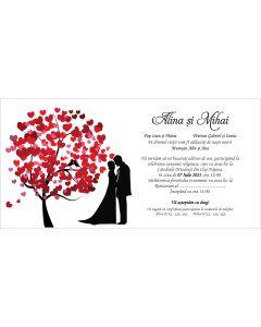 Invitatie nunta personalizata indragostiti, cod IFE11