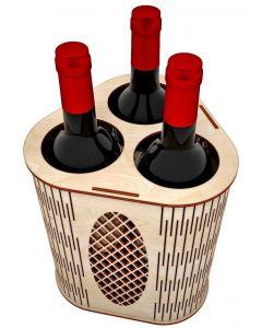 Suport 3 sticle vin, cod LTAV10
