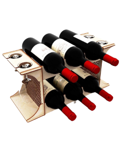 Minibar 6 sticle vin si 4 pahare, cod LTAV16