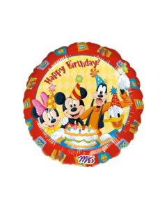 "Balon folie ""Happy Birthday"" Mickey si Prietenii, cod 09223"