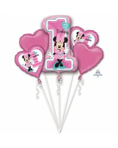 Buchet baloane folie Minnie Mouse, cod 34379