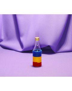 Sticla Miniatura 50 ml in sfoara colorata, cod HM010