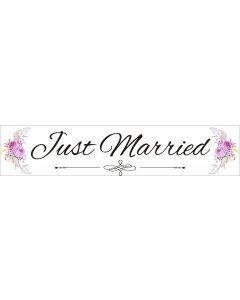 Numar masina Just Married, cod NM02