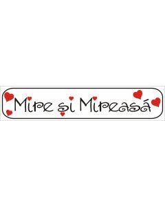 Numar masina Mire si Mireasa, cod NM13