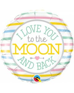 "Balon folie ""I love you to the moon and back"", cod 55382"
